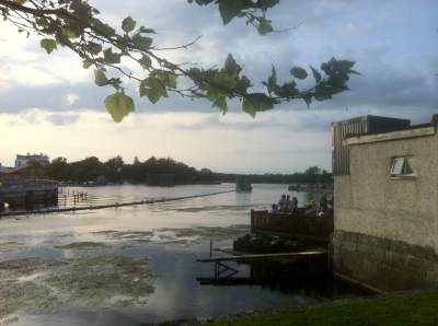 The Rowing Club on the River Corrib, Galway