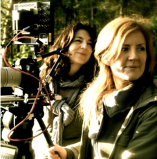 Sonya directing DoP  Christy on the set of 'I do'