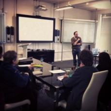 Juan teaching at our workshop
